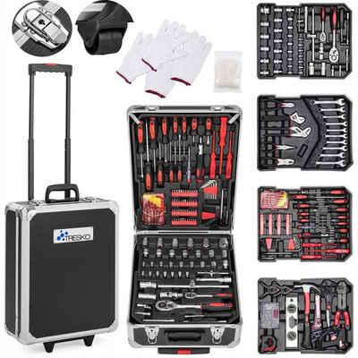 TRESKO Werkzeugkoffer, Werkzeugkasten 949 teilig Werkzeugkoffer Werkzeugkiste Werkzeugtasche Werkzeug Set Werkzeug-Trolley Chrom-Vanadium Stahl