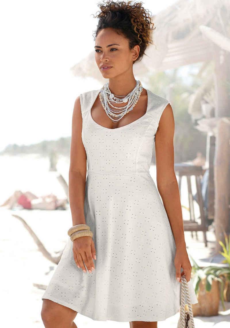 Beachtime Sommerkleid mit Lochstickerei