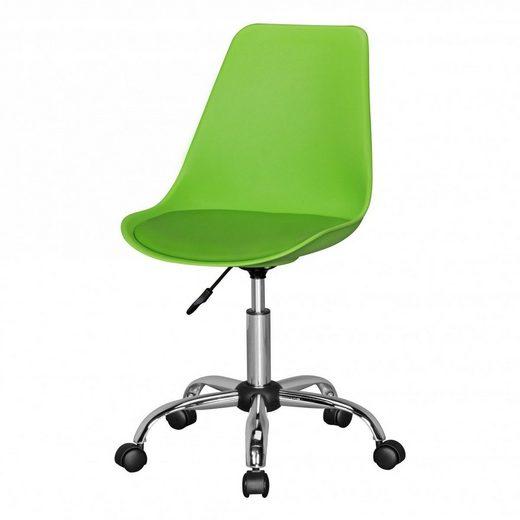 Amstyle Drehstuhl »SPM1.337« KORSIKA Drehstuhl Kunstleder Grün Drehsessel Wartezimmerstuhl Schreibtischstuhl Rückenlehne verstellbar