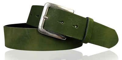 FRONHOFER Hüftgürtel »18617« dezenter basic Gürtel 4 cm aus echtem Leder mit silberner Schnalle