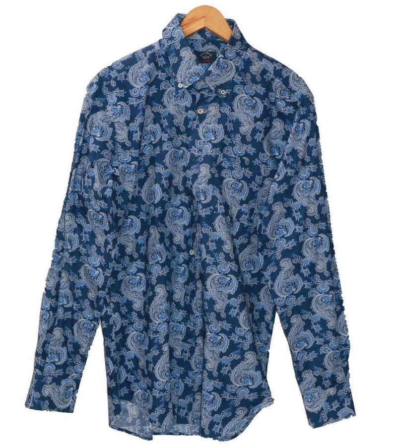 PAUL & SHARK Hemd »PAUL & SHARK Sommer-Hemd cooles Herren Freizeit-Hemd Mode-Hemd Made in Italy Blau«