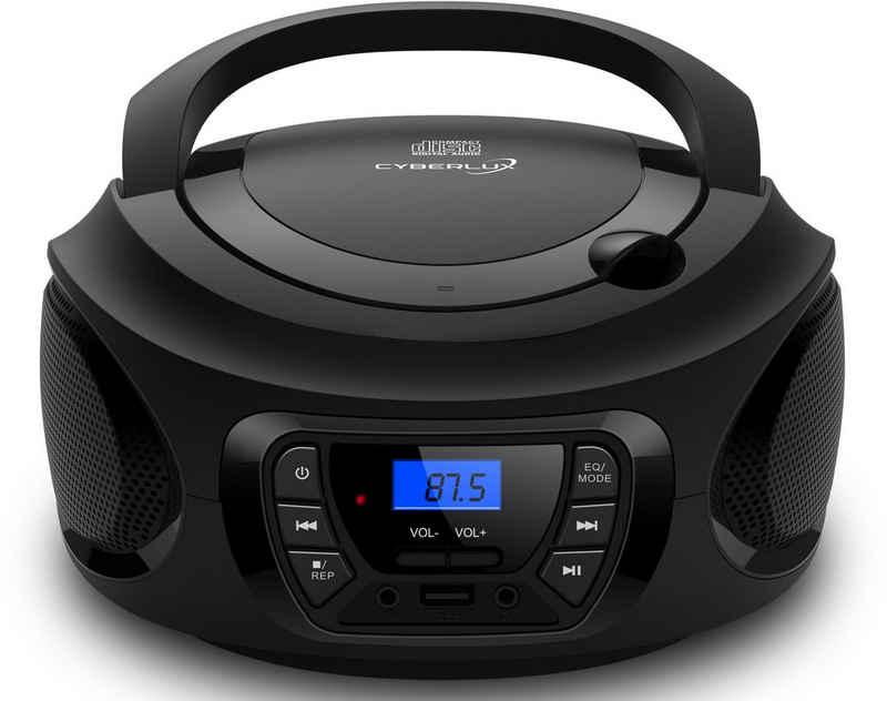 Cyberlux »CL-600« tragbarer CD-Player (CD-Player, Tragbarer CD-Player, FM Radio mit MP3 USB)