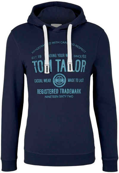 TOM TAILOR Kapuzensweatshirt mit großem Logoprint