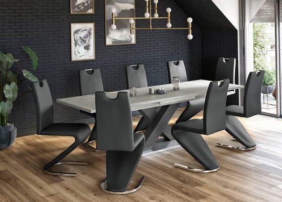 Mäusbacher Esstisch »Komfort C«, mit X-Gestell in graphit und mit Auszugsfunktion, Breite 180-280 cm