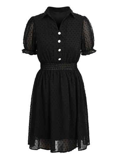 LAPA Chiffonkleid »LAPA Damen Chiffon Kleid, V-Ausschnitt Kleid, Elegantes Kleid«