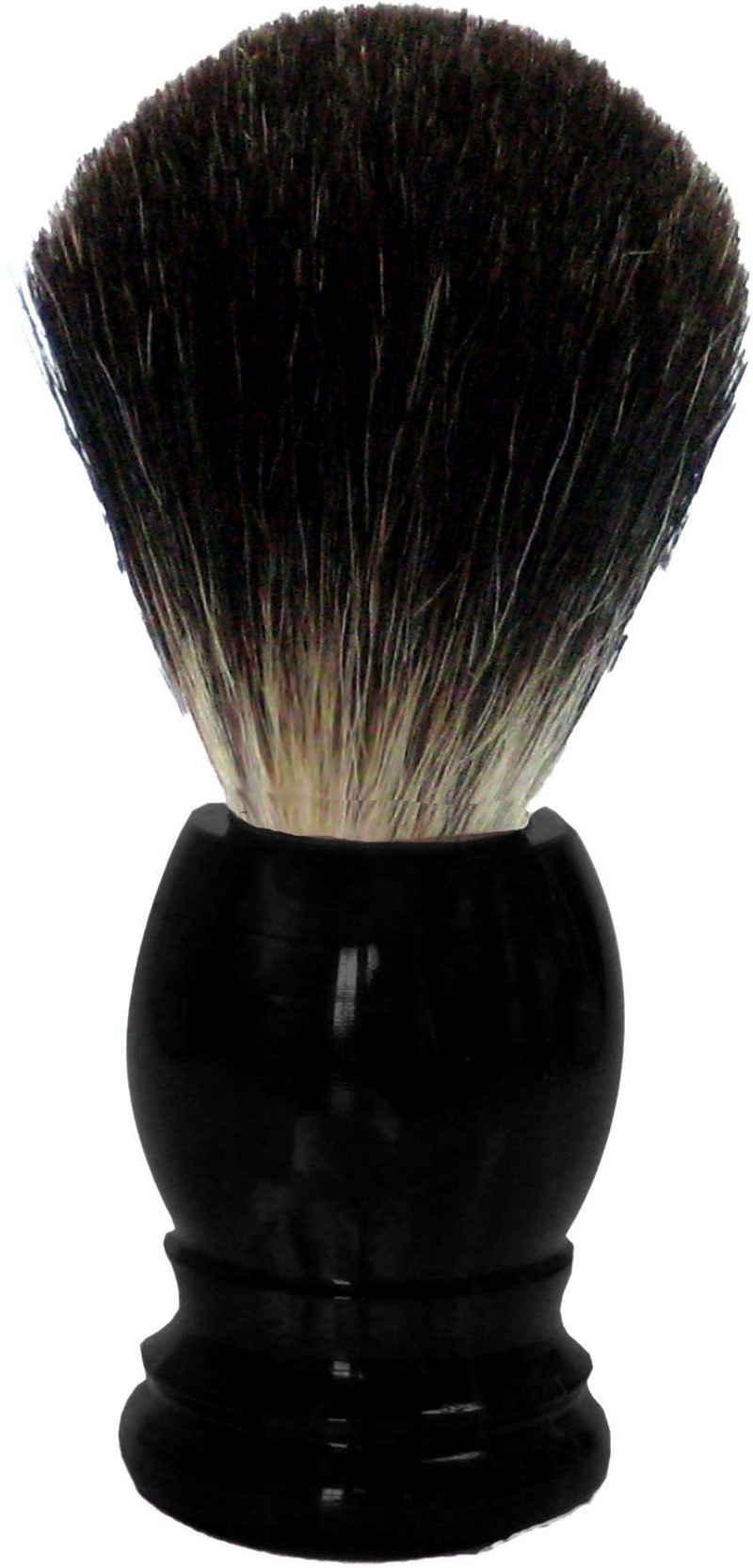 Golddachs Rasierpinsel, 100% Dachshaar, schwarzer Kunststoffgriff