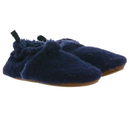 MAXIMO »maximo Lauflernschuhe klassische Baby Haus-Schuhe Filz-Schuhe Schühchen Dunkelblau« Lauflernschuh
