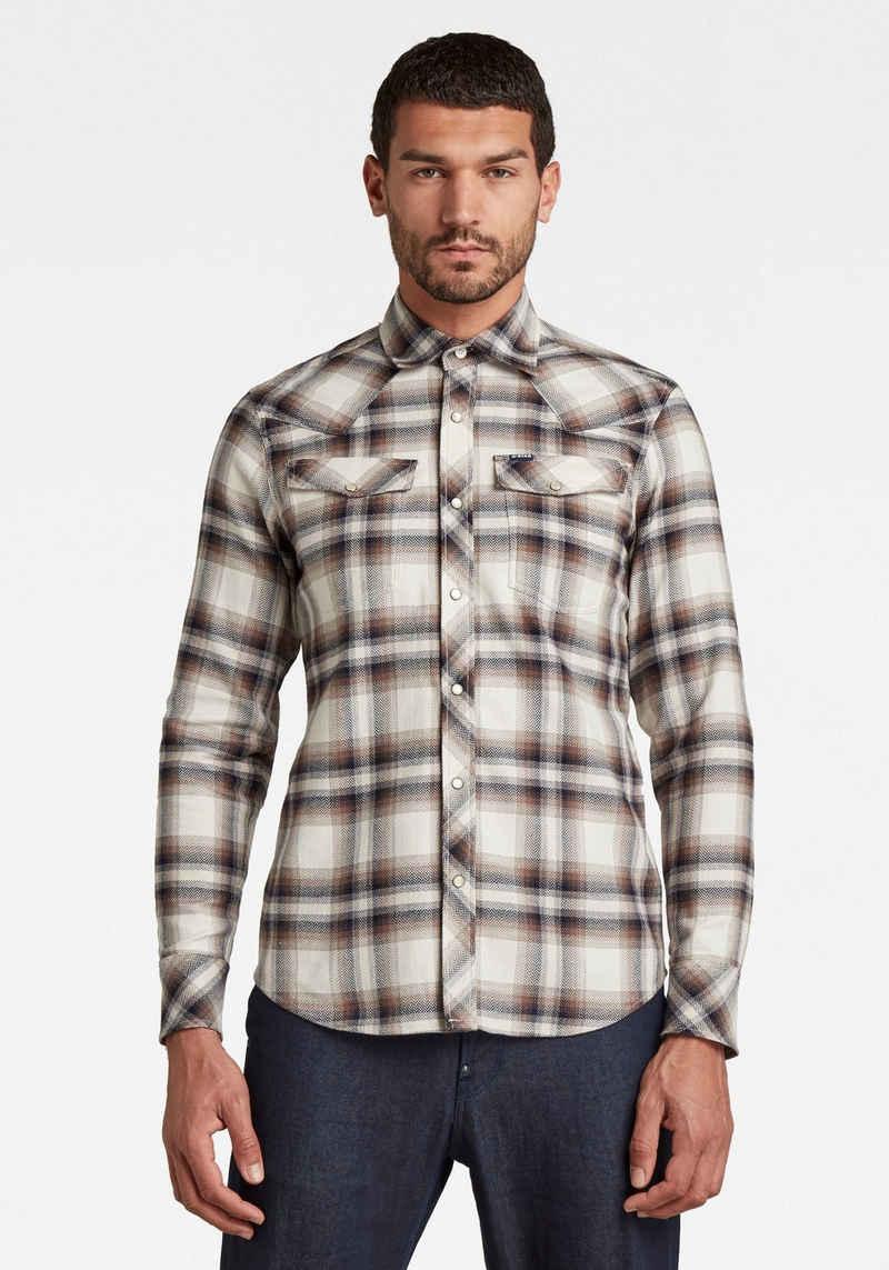 G-Star RAW Langarmhemd »Slim Shirt l\s-Heritage Flannel Check«