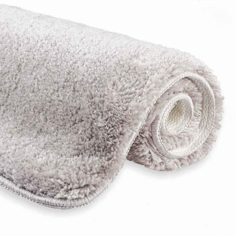 Badematte »etérea Badteppich Badematte Jana« etérea Himmlische Qualität, Höhe 30 mm, rutschhemmend beschichtet, fußbodenheizungsgeeignet, schnell trocknend, strapazierfähig, rutschhemmender Rücken