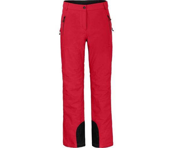 Bergson Skihose »ICE light« Damen Skihose, unwattiert, 20000 mm Wassersäule, Kurzgrößen, China rot