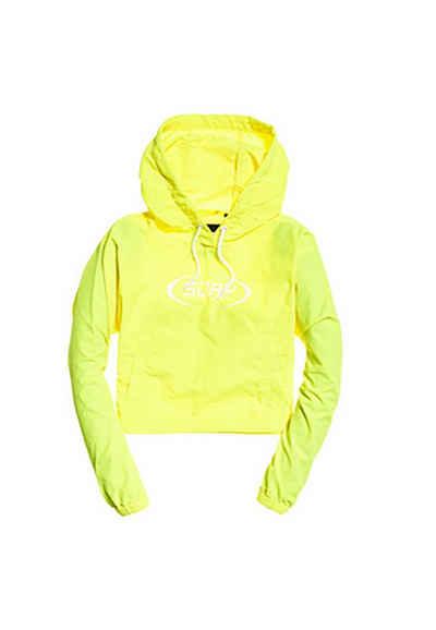 Superdry Windbreaker »Superdry Jacke Damen NEO CROPPED OVERHEAD JACKET Neon Yellow«