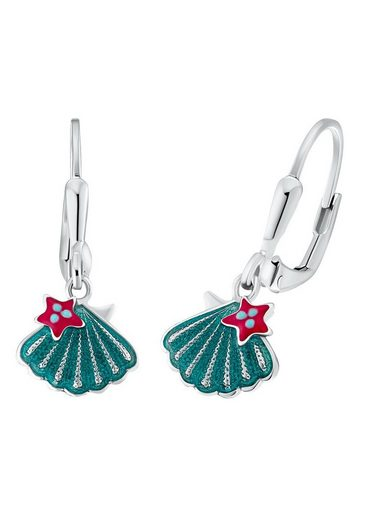 Prinzessin Lillifee Paar Ohrhänger »Muschel-Optik/Stern 2031163«, mit Emaille