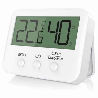 BEARWARE Wetterstation (Digitales Thermometer und Hygrometer Temperatur und Luftfeuchtigkeitsmessgerät)
