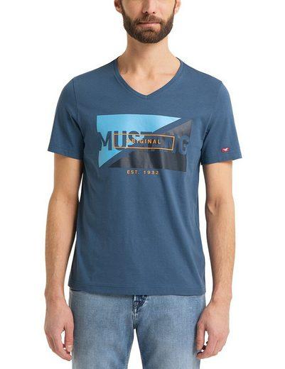MUSTANG T-Shirt »Aaron V Print«