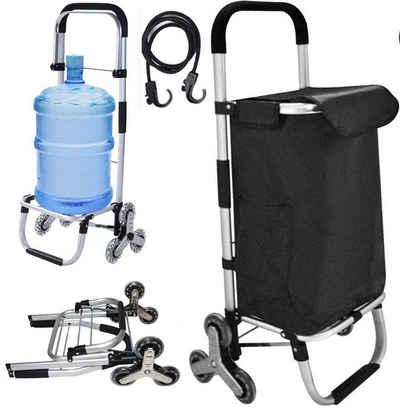 LBLA Einkaufstrolley, Klappbar, Stabiler Einkaufswagen, große Kapazität 43 L, multifunktional, Handwagen mit Rollen, abnehmbare Tasche