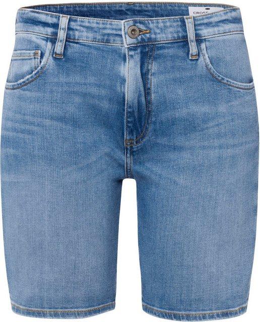 Hosen - Cross Jeans® Jeansshorts »Genna Short« Mit den typischen Jeans Nähten › blau  - Onlineshop OTTO