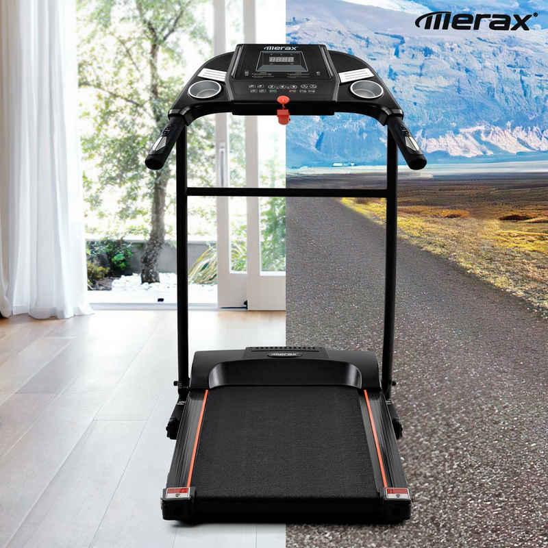 Merax Laufband »Faltbares Laufband mit voreingestellten Geschwindigkeitsstufen, USB-, AUX- und Bluetooth-Verbindung und LED-Anzeige«