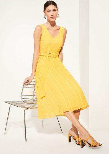 Comma Minikleid »Kleid mit elegantem Webmuster«
