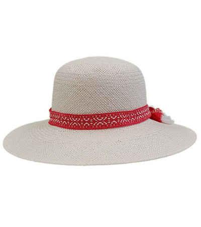 Kate Storm Strohhut »katestorm Strand-Hut eleganter Damen Stroh-Hut mit Zier-Band Kopfbedeckung Sommer-Hut Beige«