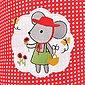 SEI Design Stillkissen »Maus rot«, mit hochwertiger Stickerei, Bild 5