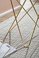 FINEBUY Beistelltisch »FB53041«, Design Beistelltisch Marmor Optik Weiß Rund Ø55 cm Gold Metallgestell Kleiner Wohnzimmertisch Couchtisch, Bild 6
