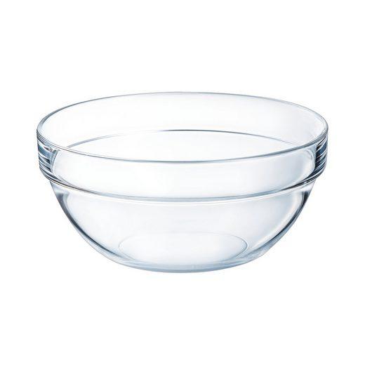 Arcoroc Obstschale »Empilable«, Glas, Schale Stapelschale Schüssel 20cm 1.8 Liter Glas transparent 1 Stück