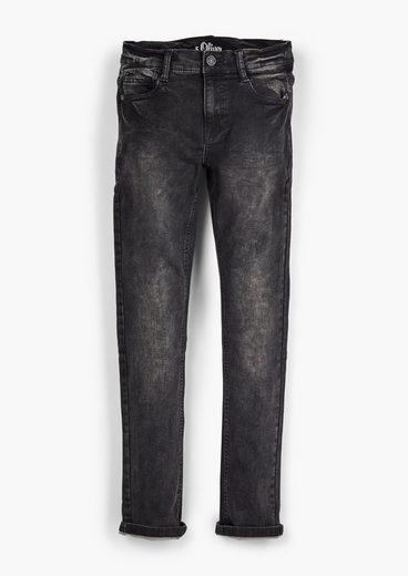 s.Oliver 5-Pocket-Jeans »Regular: Denim im Used Look« Waschung