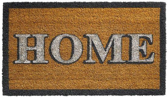 Fußmatte »Fußmatte Kokos Indoor Schrift HOME 40x70 cm«, matches21 HOME & HOBBY, rechteckig, Höhe 15 mm