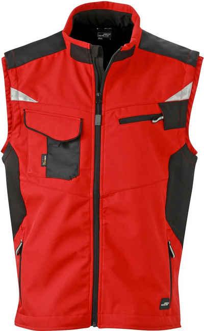 James & Nicholson Softshellweste »Workwear Weste Softshell FaS50845«