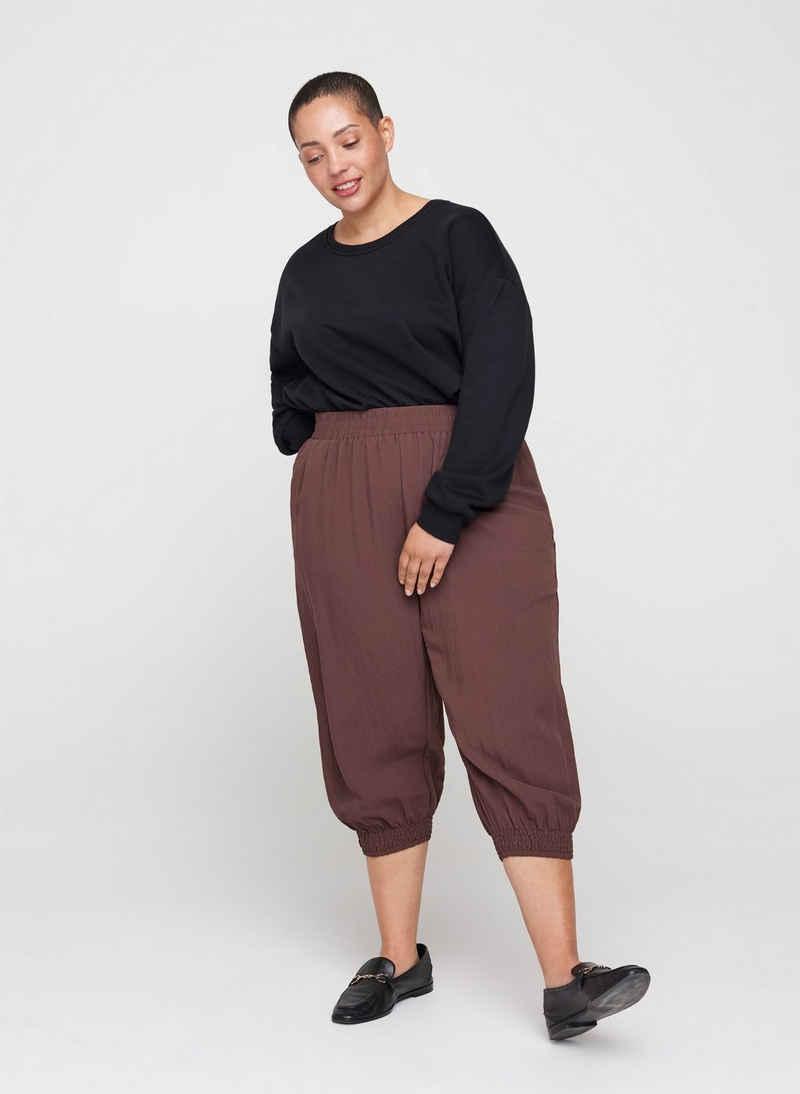 Zizzi Sweatshirt Große Größen Damen Cropped Sweatshirt mit Rundhals
