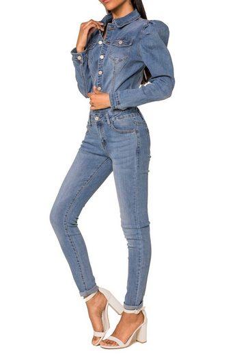 Nina Carter Jumpsuit »3317« Damen Jeans Jumpsuit ROCK Playsuit Combi Overall