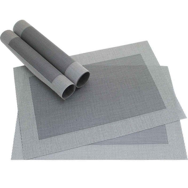 Platzset, »Tischsets BORDA 4 Stk. silberfarben Platzsets 46 cm«, matches21 HOME & HOBBY