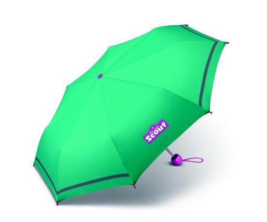 Scout Taschenregenschirm, mit Reflektorstreifen