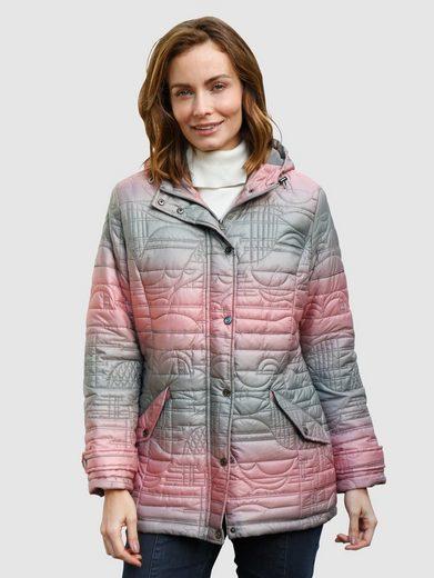 Paola Steppjacke (1-St) im modischen Farbverlauf