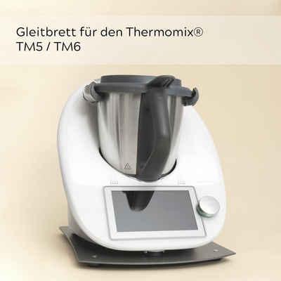 Leckerhelfer - automatisch Lecker Ablageregal »Gleitbrett für den Thermomix® TM5 TM6 Grau«, Smart, Innovativ, Flexibel, Schonend, Passgenau