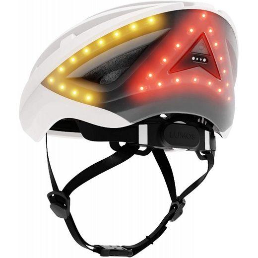 Lumos Fahrradhelm »Kickstart Fahrradhelm pearl white Sicher Belastbar Blinker-Fernbedienung«