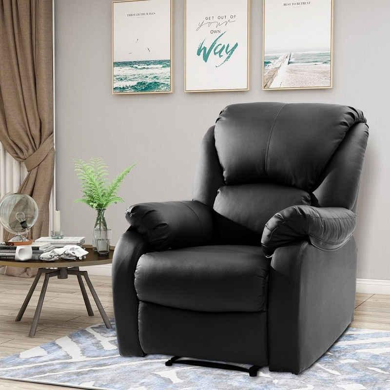 Masbekte TV-Sessel (Relaxsessel), Fernsehses Leder Sofa Tilt Sofa Push Back Sessel