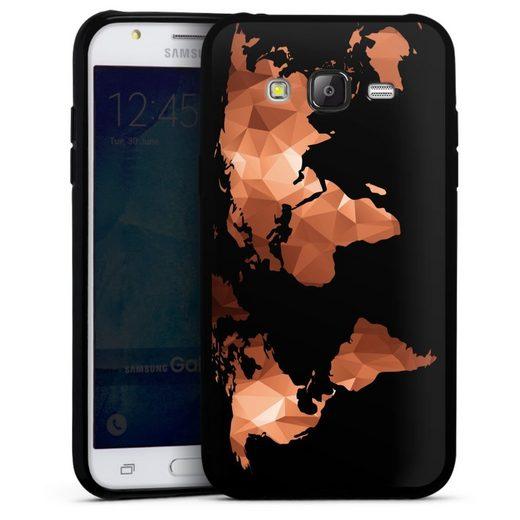 DeinDesign Handyhülle »Worldmap Triangle ohne Hintergrund« Samsung Galaxy J5 (2015), Hülle Weltkarte Landkarte Bronze