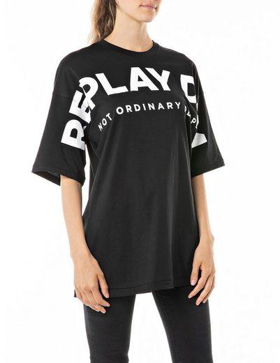 Replay Longshirt mit plakativem Labelprint