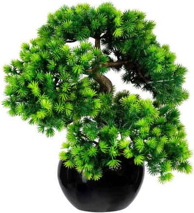 Kunstbonsai »Bonsai Lärche« Bonsai Lärche, Creativ green, Höhe 37 cm, im Keramiktopf