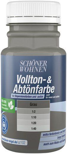 SCHÖNER WOHNEN FARBE Voll- und Abtönfarbe grau, 0,13 l