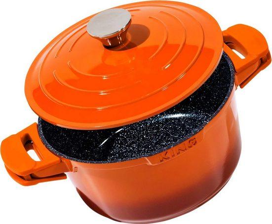 KING Schmortopf »Shine Orange«, Aluminiumguss, (1-tlg), Induktion