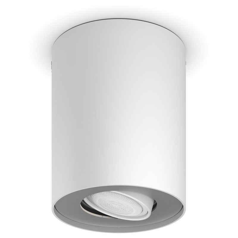 Philips Hue LED Deckenstrahler »Bluetooth White Ambiance Spot Pillar in Weiß 1-fla«, Deckenstrahler, Deckenspot, Aufbaustrahler