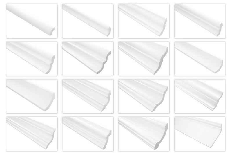 marbet design Eckprofil »E-02«, Stuckleisten aus Styropor XPS - riesige Auswahl, leichte und stabile Profile für Decken-/ und Wandübergang dekorativ