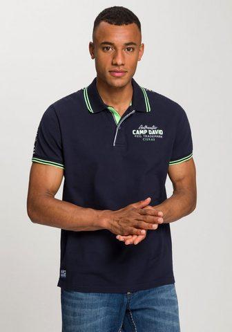 CAMP DAVID Polo marškinėliai su großen Logosticke...
