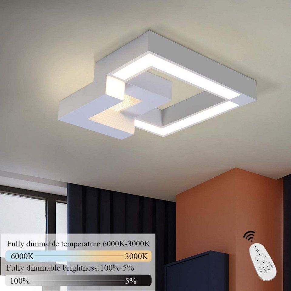 ZMH Deckenleuchte »LED Deckenlampe Dimmbar mit Fernbedienung farbwechsel  Eckig stufenlos für Wohnzimmer Badezimmer« online kaufen  OTTO Wand