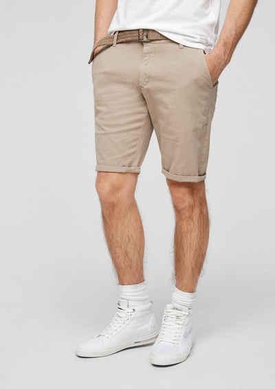 Q/S designed by Shorts »Regular Fit: Bermuda mit Gürtel« (1-tlg)