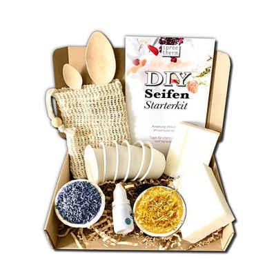 spreetherm Seifen-Set »Seife selber machen, DIY Set von spreetherm inkl. veganer Kernseife, Seifenbeutel uvm.«