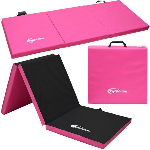 eyepower Fitnessmatte »XL Gymnastikmatte Sport-, Turn- und Bodenmatte«, Weichbodenmatte pink