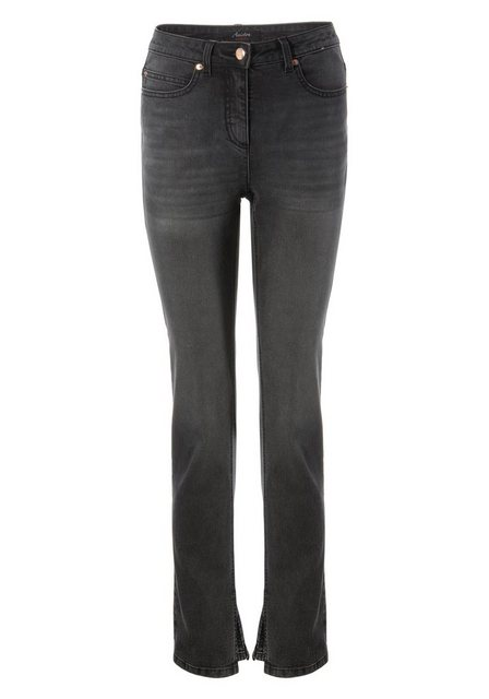 Hosen - Aniston CASUAL Straight Jeans regular waist NEUE KOLLEKTION › grau  - Onlineshop OTTO